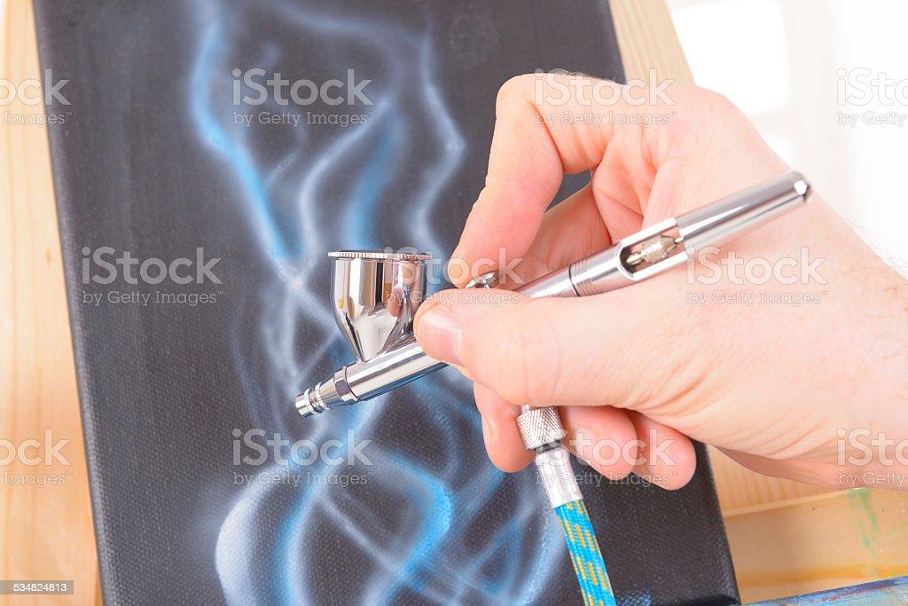 Airbrush stock photo