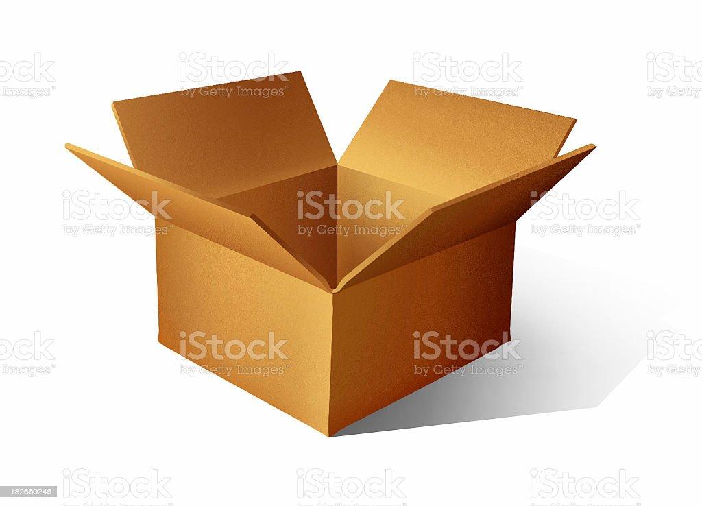 airbrushed Cardboard Box - [ 3 ] royalty-free stock photo