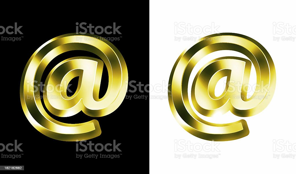 airbrushed @ Symbol : Gold royalty-free stock photo