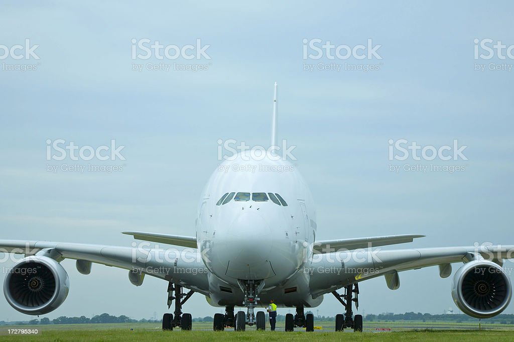 Airbus A 380 airliner royalty-free stock photo