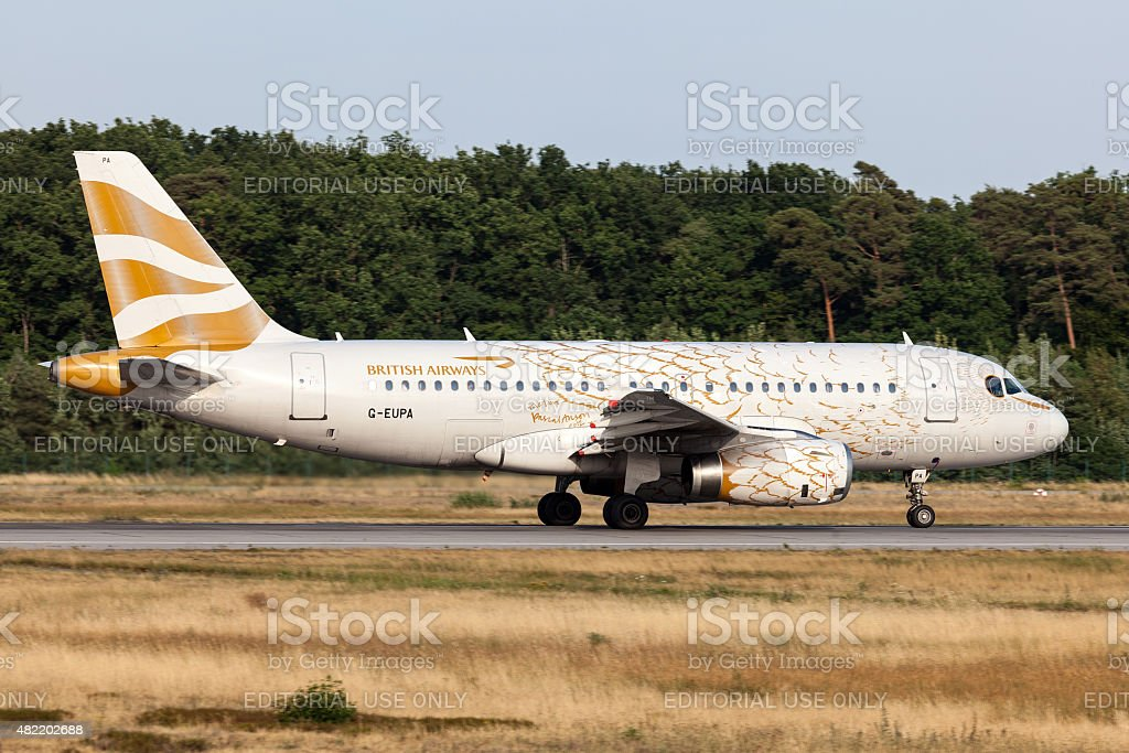 Airbus A318-321 of the British Airways stock photo
