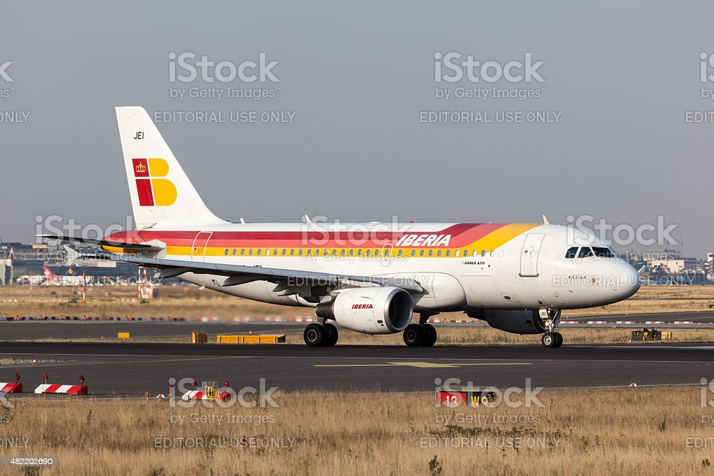 Airbus A319 of the Iberia Airline stock photo