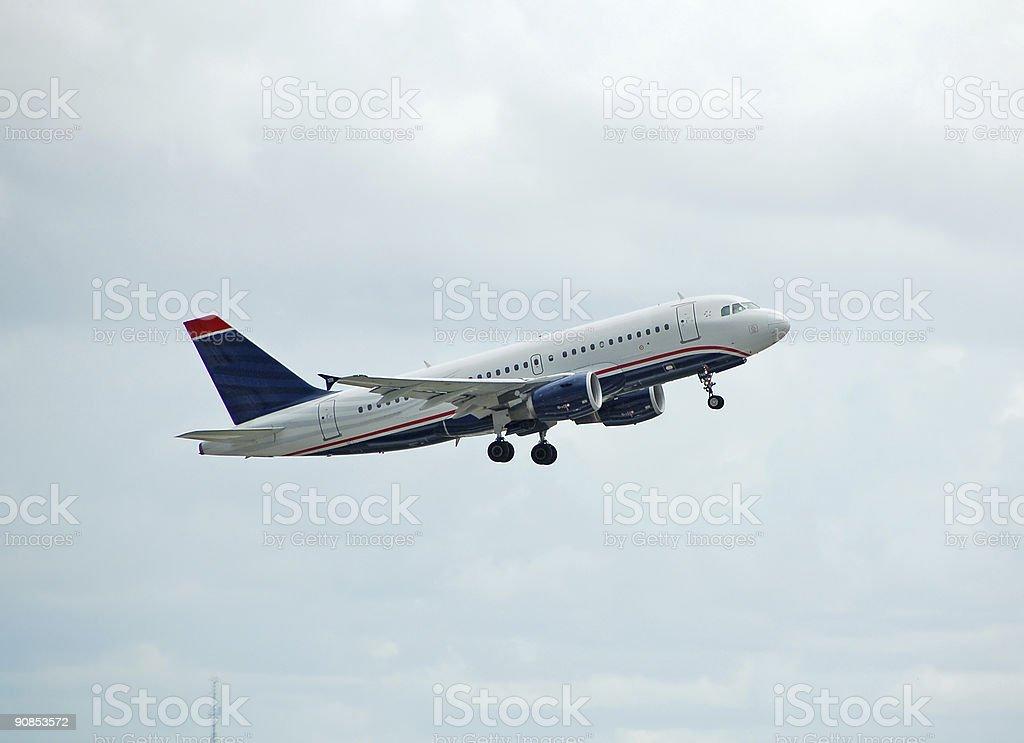 Airbus A-319 passenger jet royalty-free stock photo