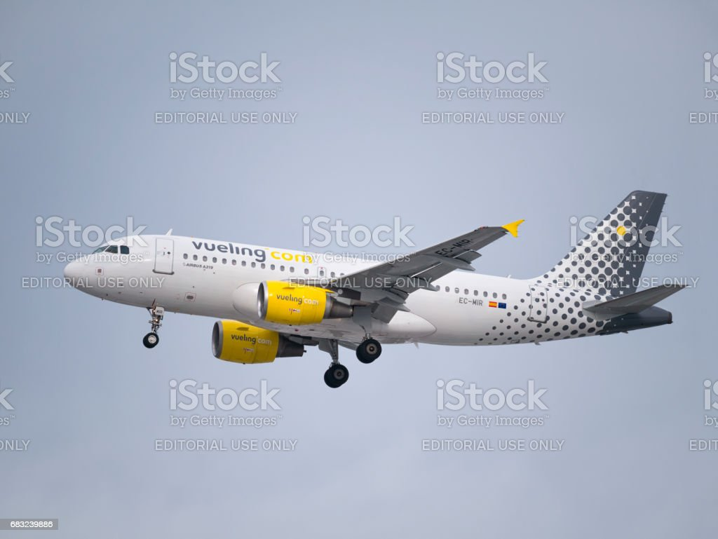 Airbus A319 Vueling Airline stock photo