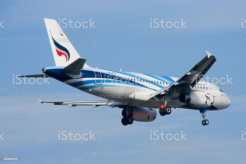 HS-PPA  Airbus A319-100 of Bangkokairway. stock photo