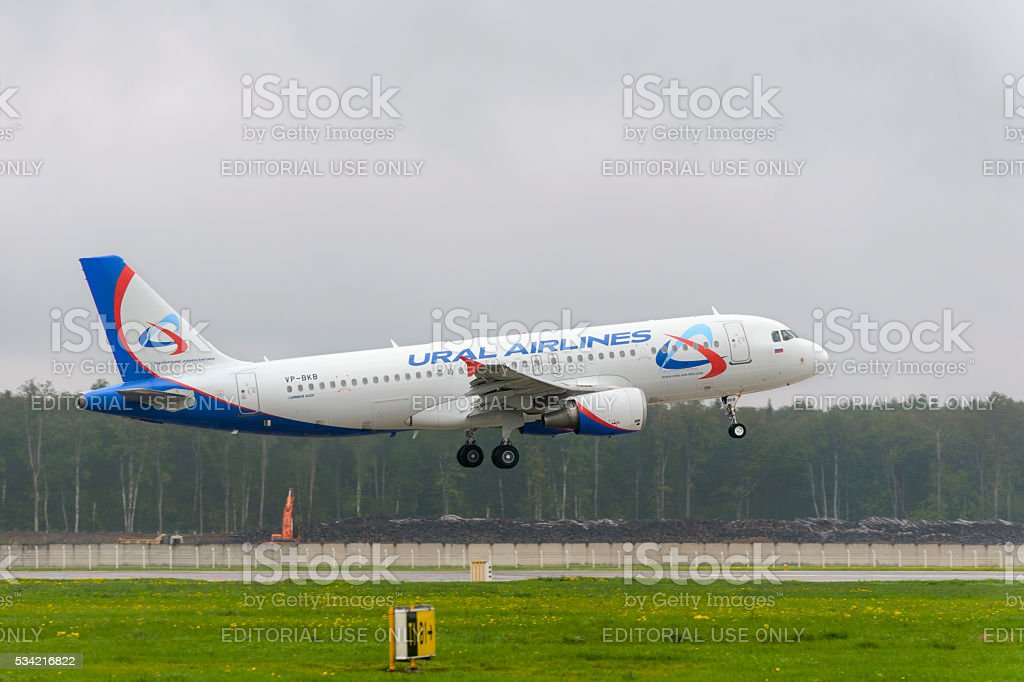 Airbus A320 Ural Airlines Landing Stock Photo & More