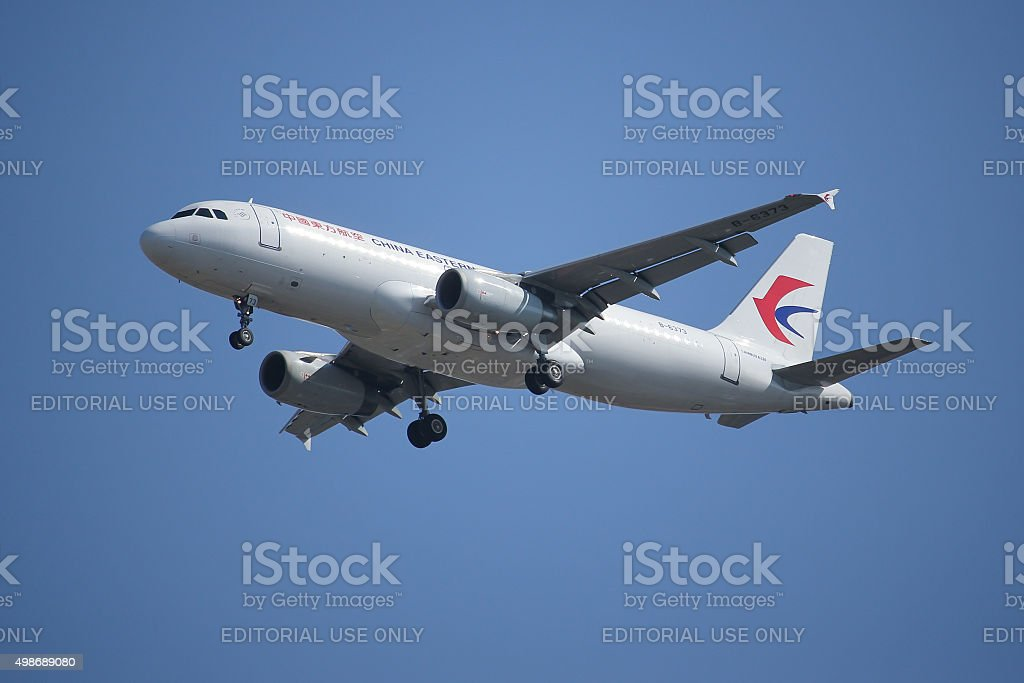 B-6373 Airbus A320-200 of China Eastern Airline stock photo