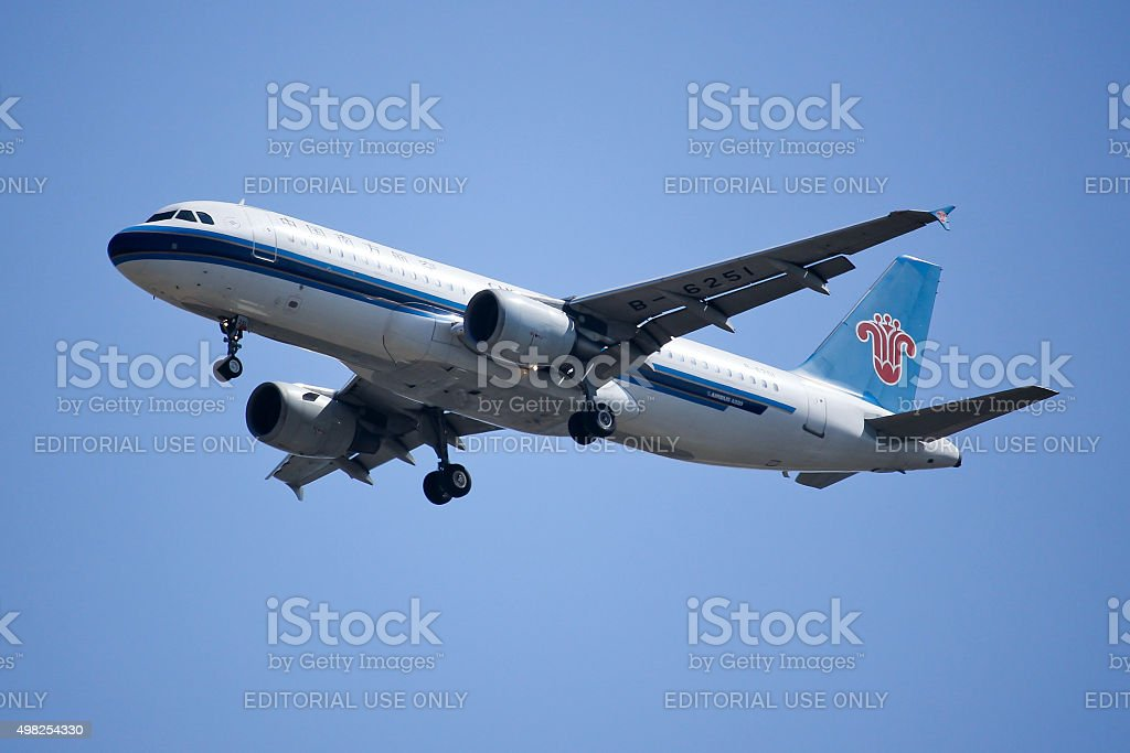 B-6251 Airbus A320-200 of China Southern Airline stock photo