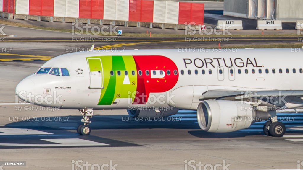 Airbus A320-214 TAP Air Portugal startet am Flughafen Zürich – Foto