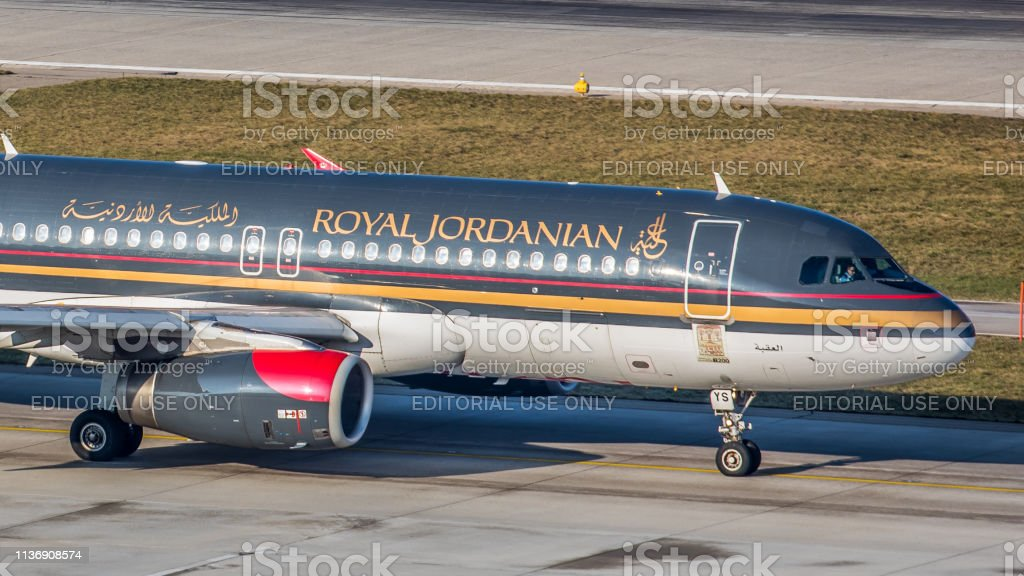 Airbus A320-232 Royal Jordanians Airlines startet am Flughafen Zürich – Foto