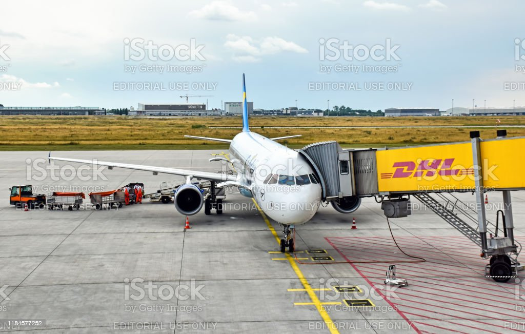 Airbus A321 Aircraft Of The German Airline Condor At Leipzig Halle Airport Stock Photo Download Image Now Istock