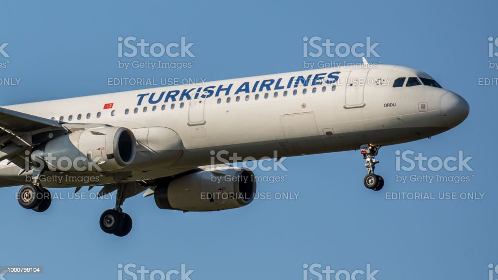 Airbus A321 From Turkish Airlines Lands At Zurich Airport