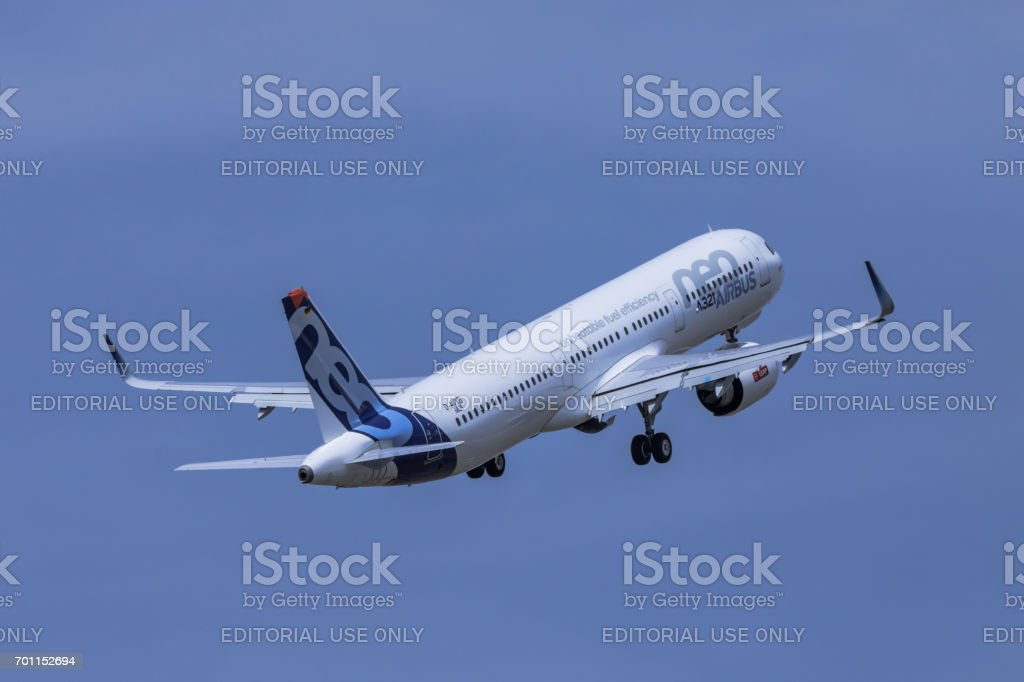 Airbus A321 neo aircraft stock photo