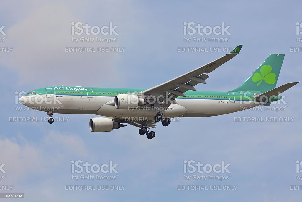Airbus A330 Aer Lingus stock photo