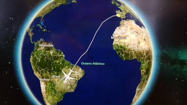 Rota de voo Airbus A330 neo de Portugal para Brasília - foto de acervo