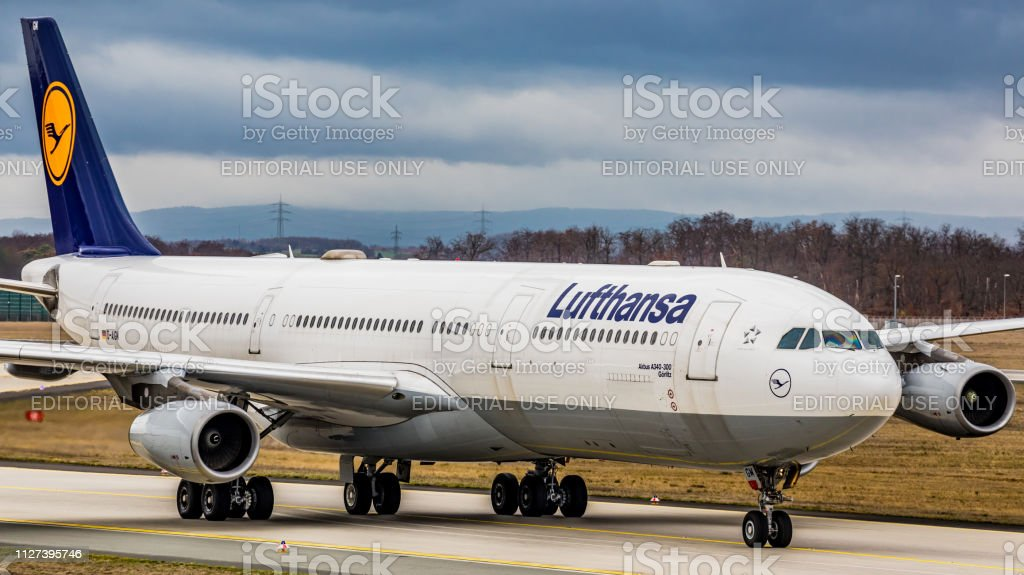 Airbus A340-313 Lufthansa am Flughafen Frankfurt Am Main – Foto