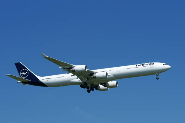 Airbus A340-600 Lufthansa reg. D-AIHI stock photo
