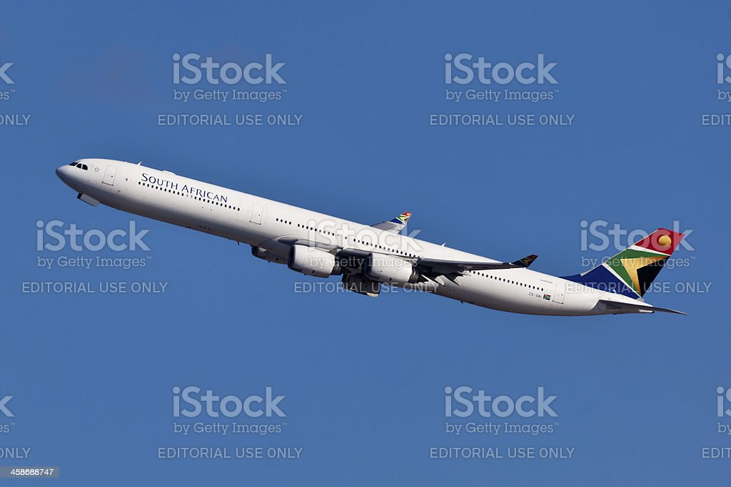 Airbus A340-600 South Africa Airways stock photo