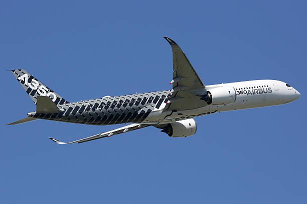 Airbus A350 aereo Aeroporto di Tolosa - foto stock