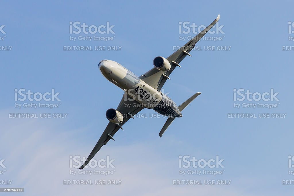 Airbus A350 at Berlin Schoenefeld Airport - in Flight - Photo