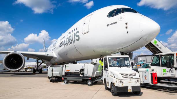 Airbus A350 XWB passenger plane stock photo