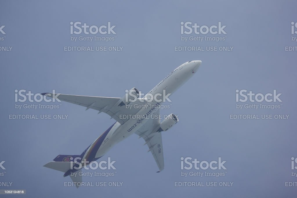 Airbus A350-900 of Thai Airway stock photo