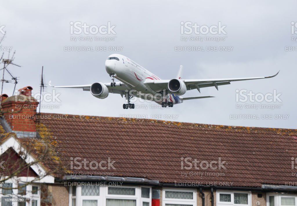 Airbus A350-941 Malaysia Airlines reg. 9M-MAC stock photo
