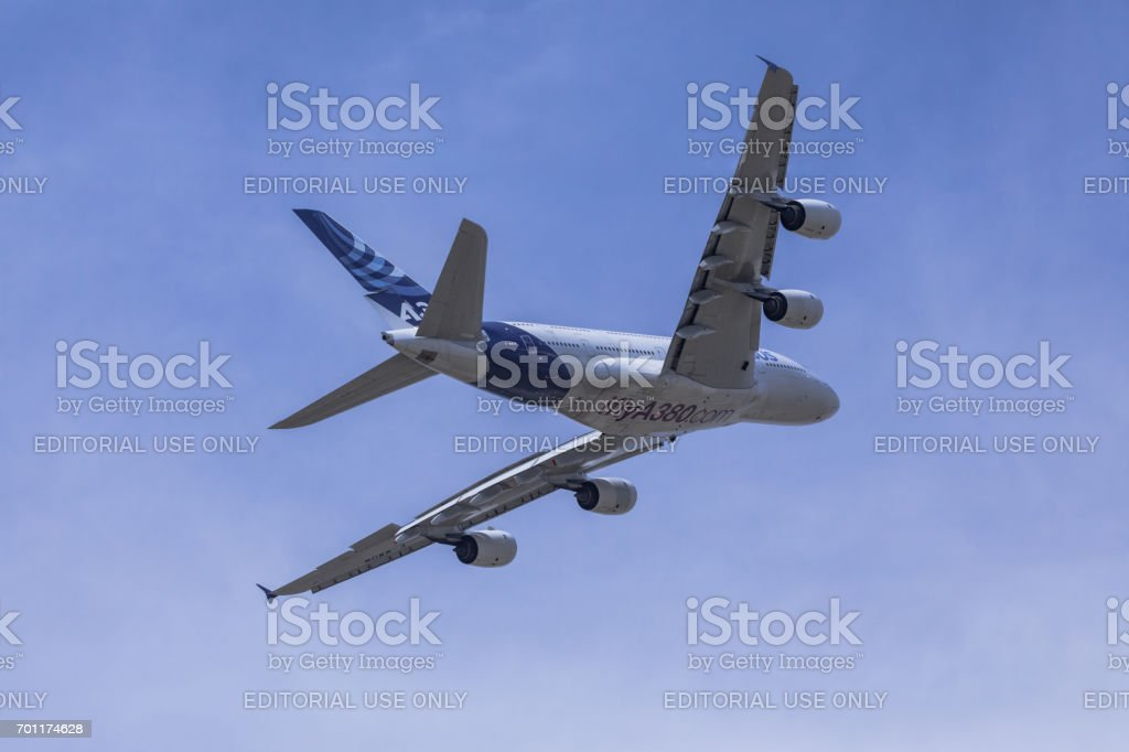 Airbus A380 aircraft stock photo