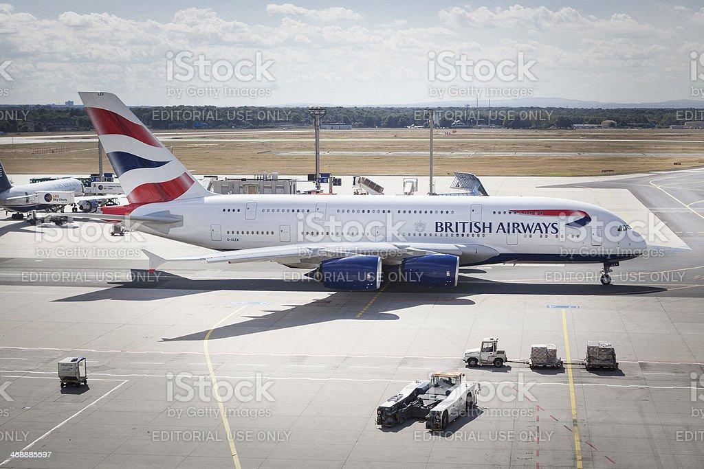 Airbus A380 British Airways royalty-free stock photo
