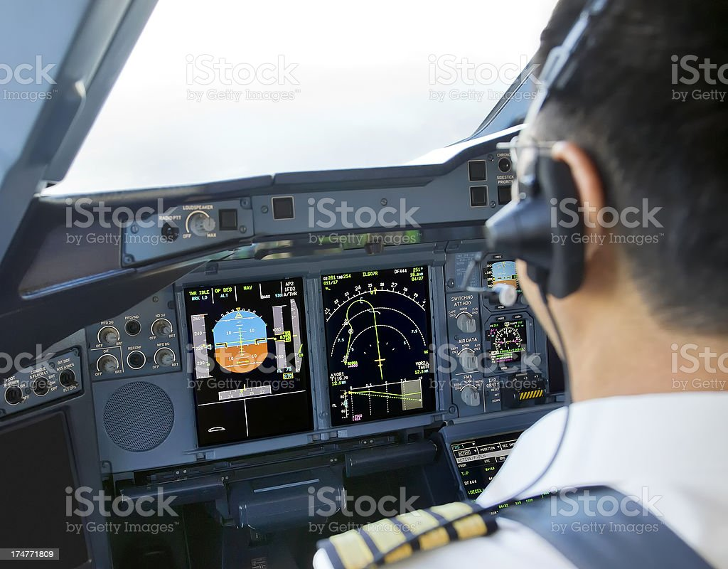 Airbus A380 Captain stock photo