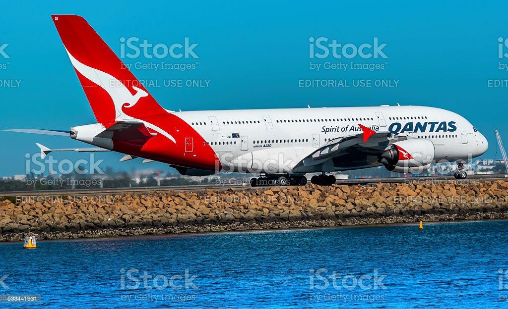 Airbus A380 - foto de stock