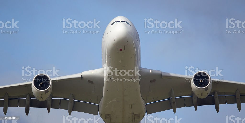Airbus A380 Super Jumbo Commercial Aircraft stock photo