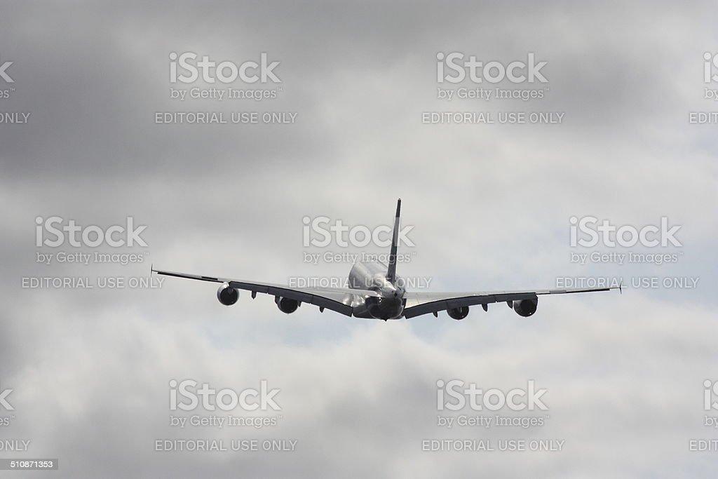 Airbus A380 Decollare - foto stock