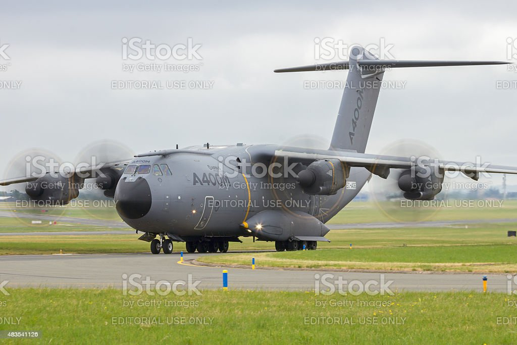 Airbus A400M military transport stock photo