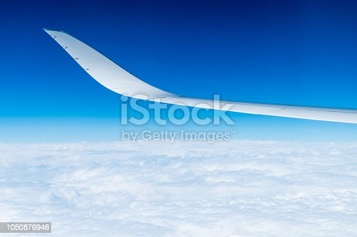 istock Airbus airplane winglet 1050876946