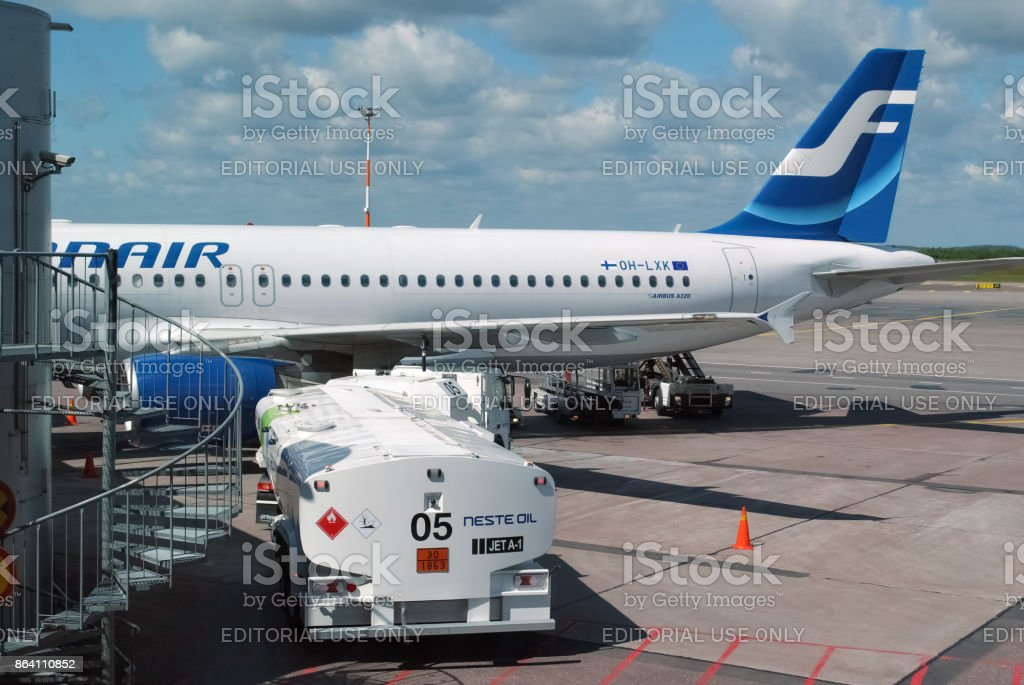 Airbus at the airport. royalty-free stock photo