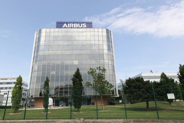 Airbus building in Toulouse, France stock photo