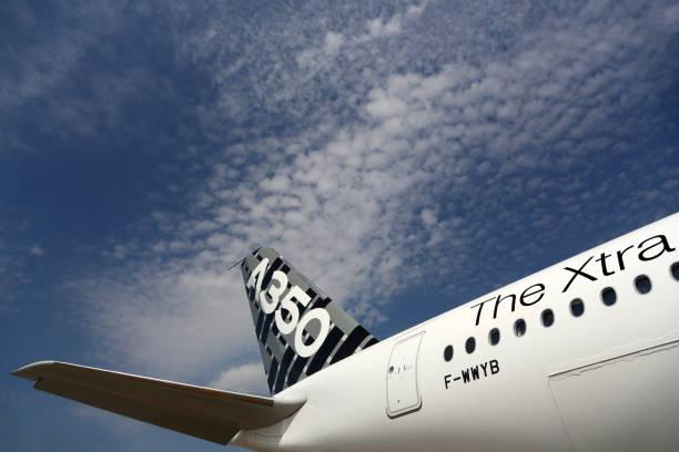 Airbus Industrie Airbus A350 F-WWYB at Sheremetyevo international airport. - foto stock