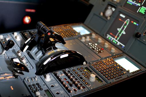 Airbus Jet Cockpit Pedestal Panel Stock Photo - Download Image Now