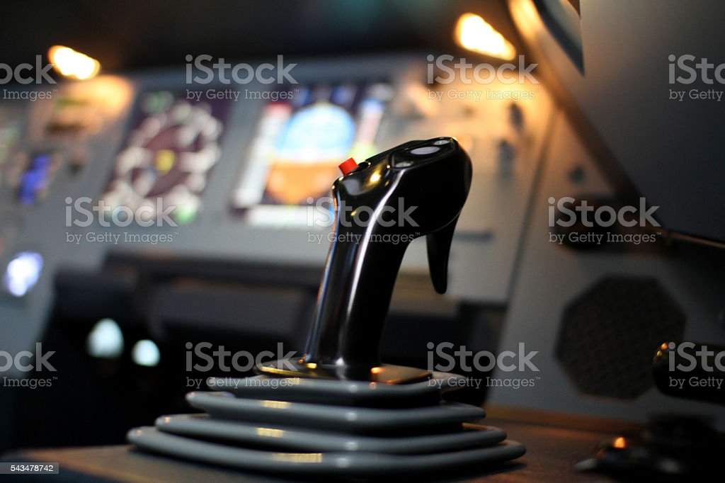 Airbus Jet Cockpit Side Stick stock photo