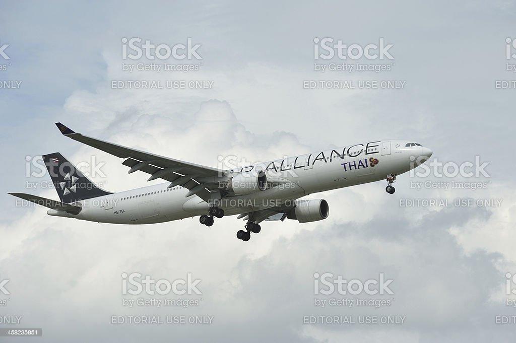 Airbus Thai  Airways royalty-free stock photo