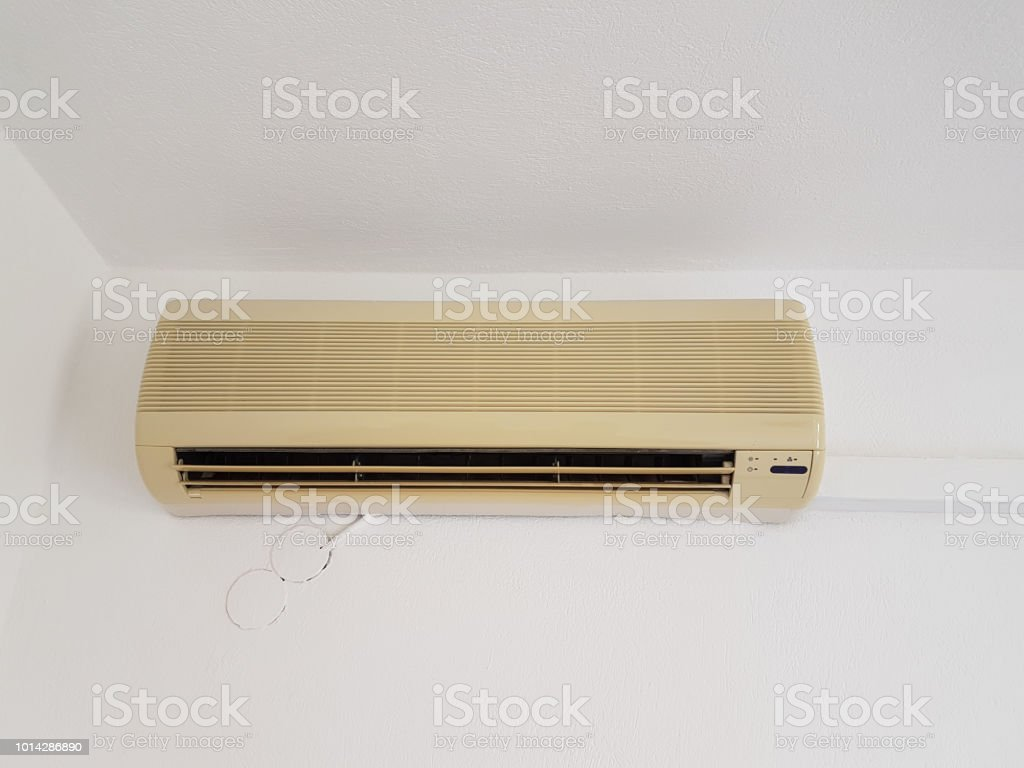 aircondition air condition home interior old stock photo