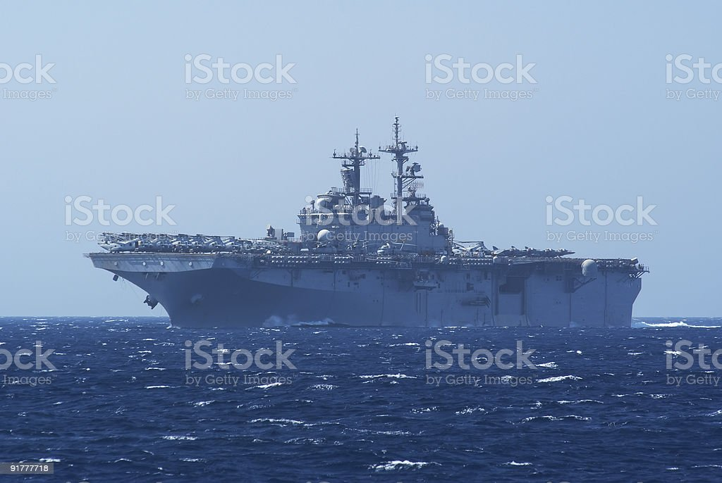 Aircraft and helicopter carrier royalty-free stock photo