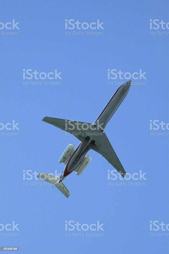 aircraft below 4 royalty-free stock photo