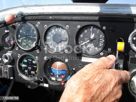 Old Professional Pilot Flying An Old Plane