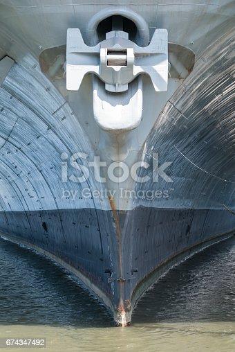 istock Aircraft carrier anchor 674347492