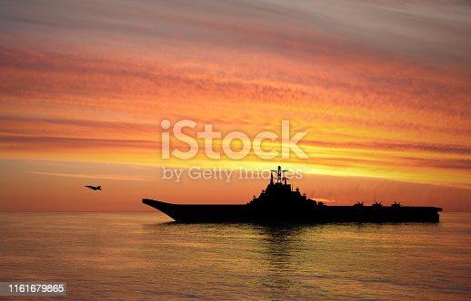 istock Aircraft carrier 1161679865