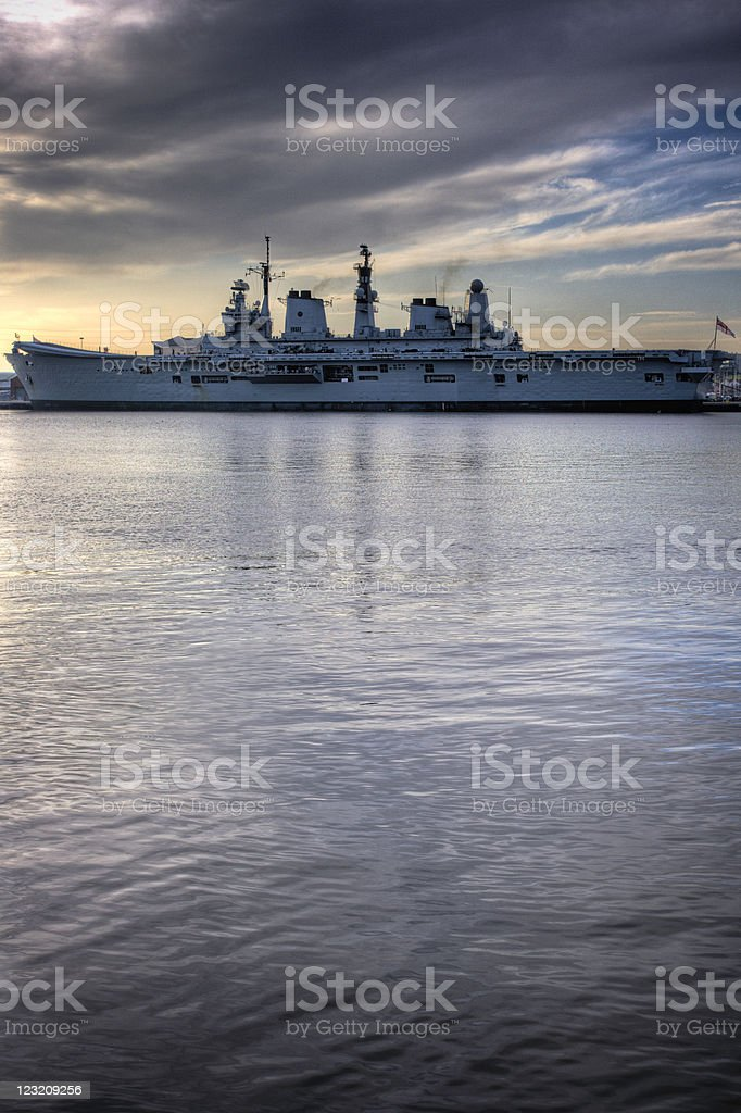 HDR Aircraft carrier royalty-free stock photo