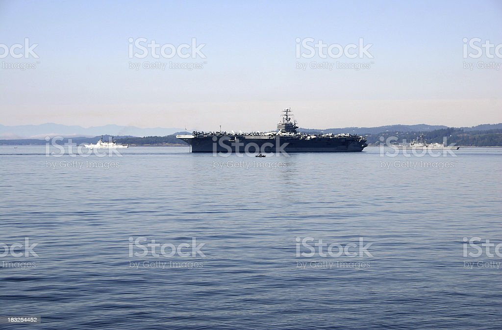 Aircraft Carrier royalty-free stock photo