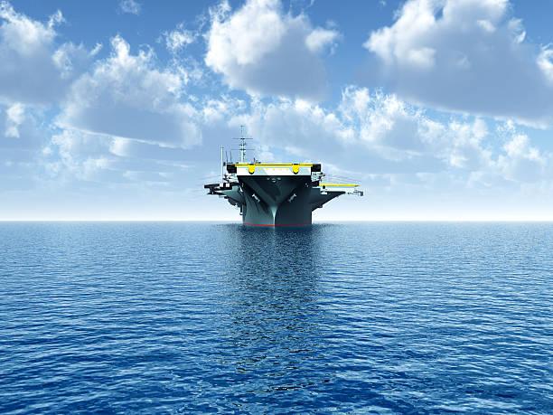 aircraft carrier  - flugzeugträger stock-fotos und bilder
